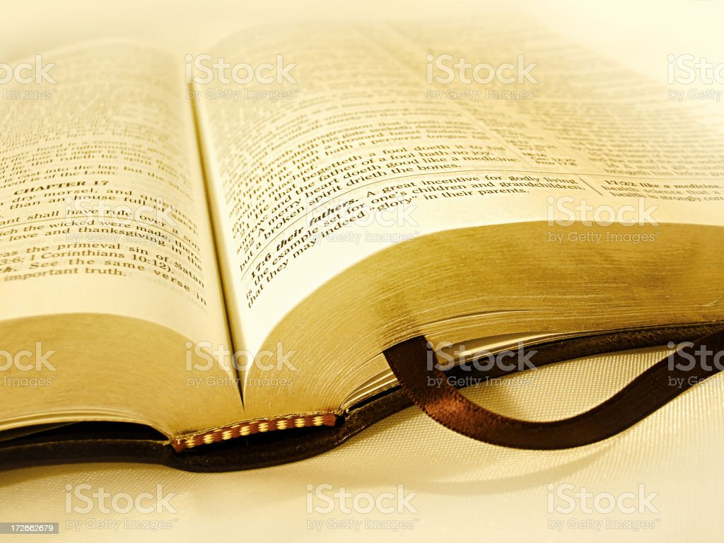 Golden Bible (KJV) stock photo