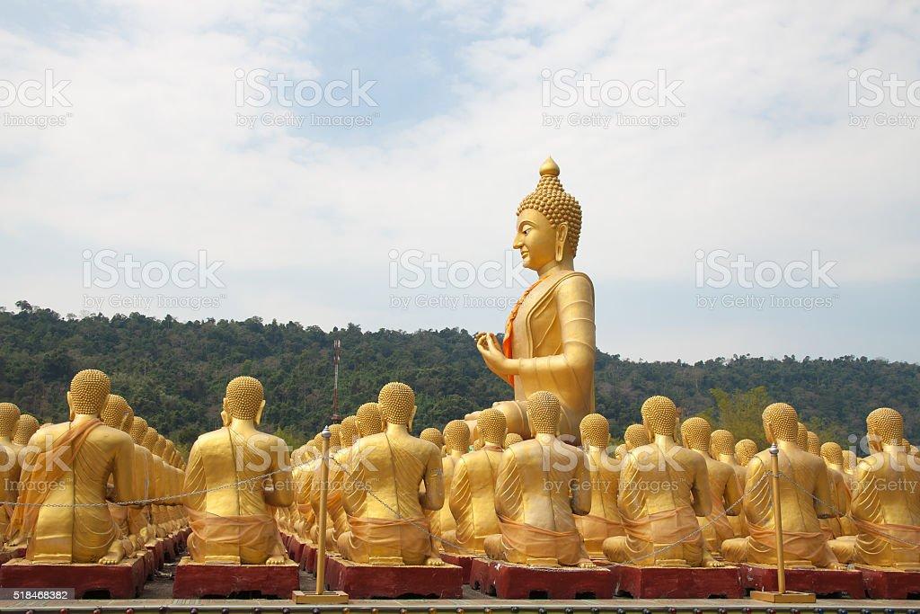 Golden big buddha statue royalty-free stock photo