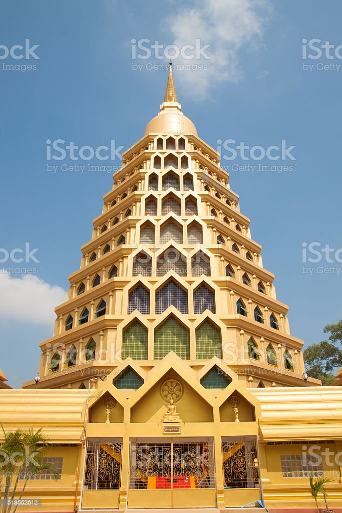 Golden big pagoda royalty-free stock photo
