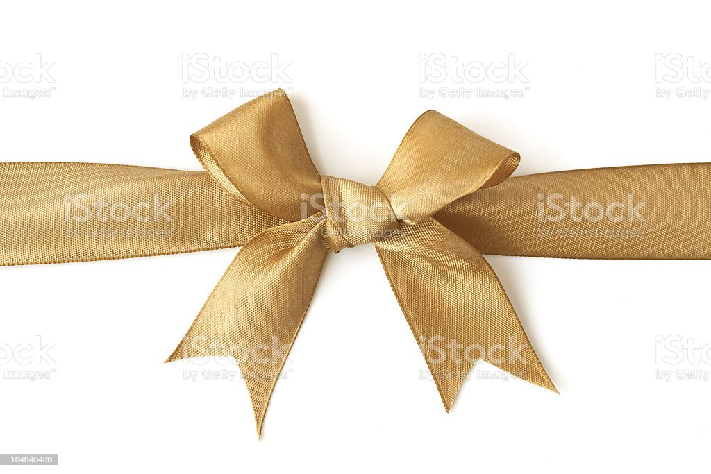 golden bow stock photo