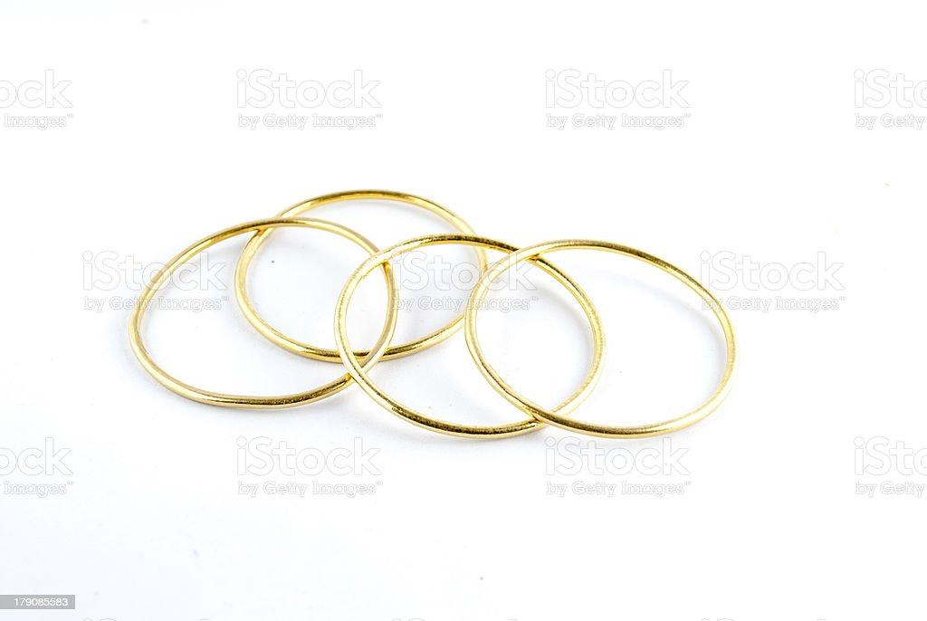 golden bracelets royalty-free stock photo