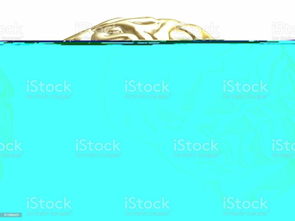 golden brain royalty-free stock photo