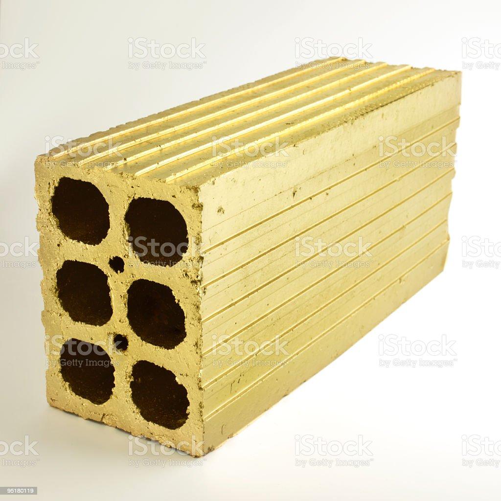 Golden Brick royalty-free stock photo