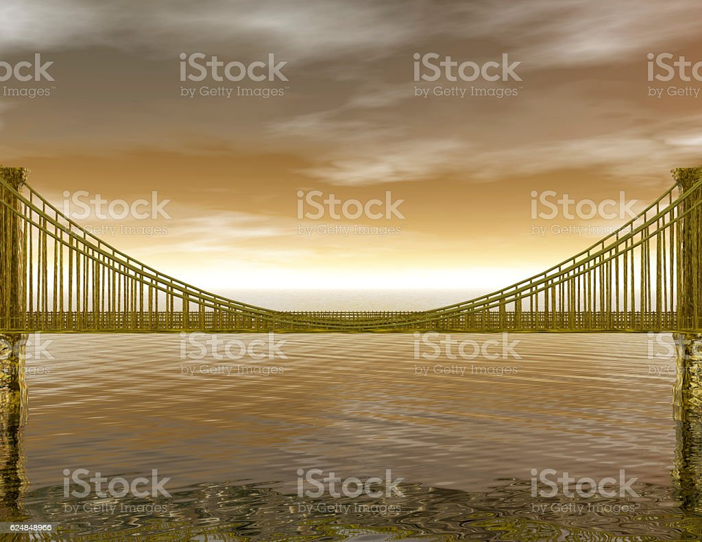 Golden Bridge stock photo