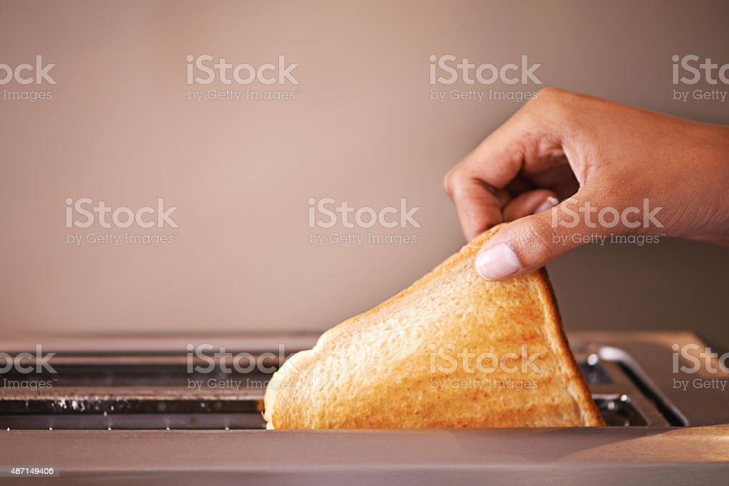 Golden brown and ready to munch stock photo