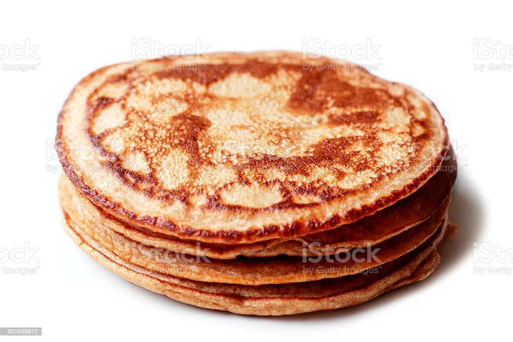 Golden Brown Pancakes stock photo