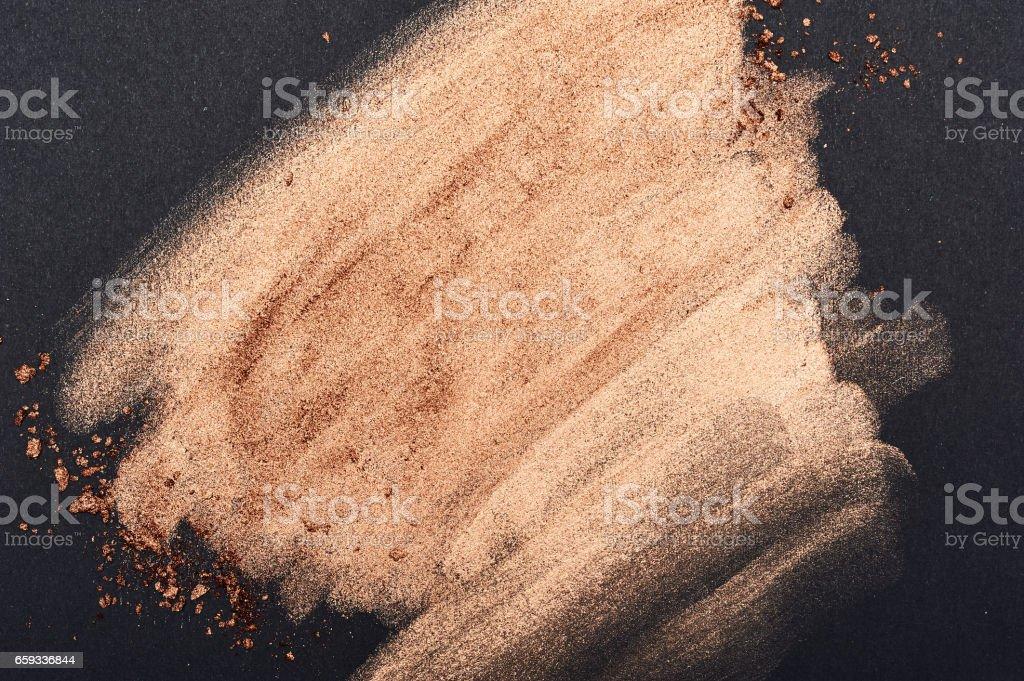 Golden Brush Strokes on black Surface stock photo