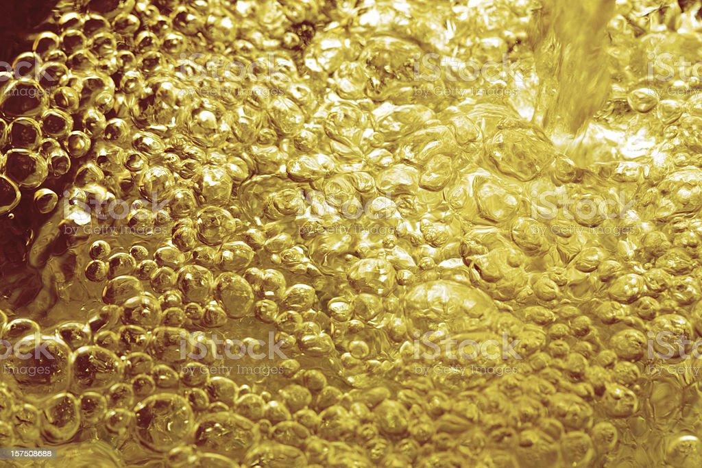 Golden bubbles royalty-free stock photo