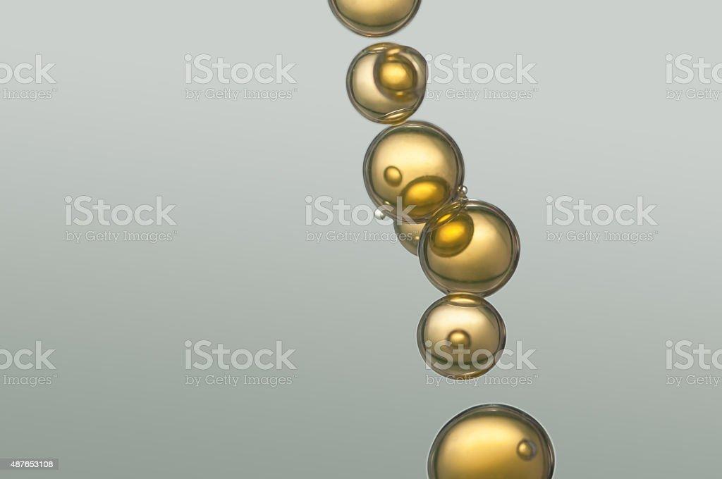 Golden bubbles stock photo