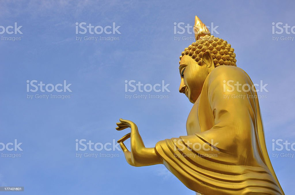 Golden Buddha Bless royalty-free stock photo