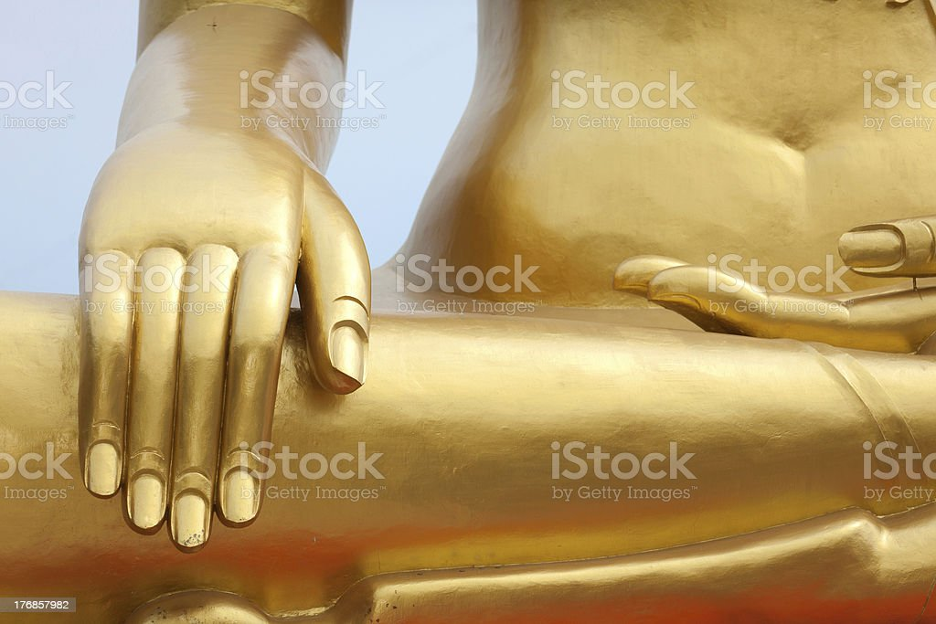 golden buddha detail royalty-free stock photo
