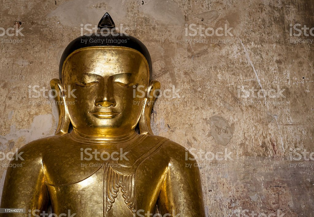 Golden Buddha from Bagan royalty-free stock photo