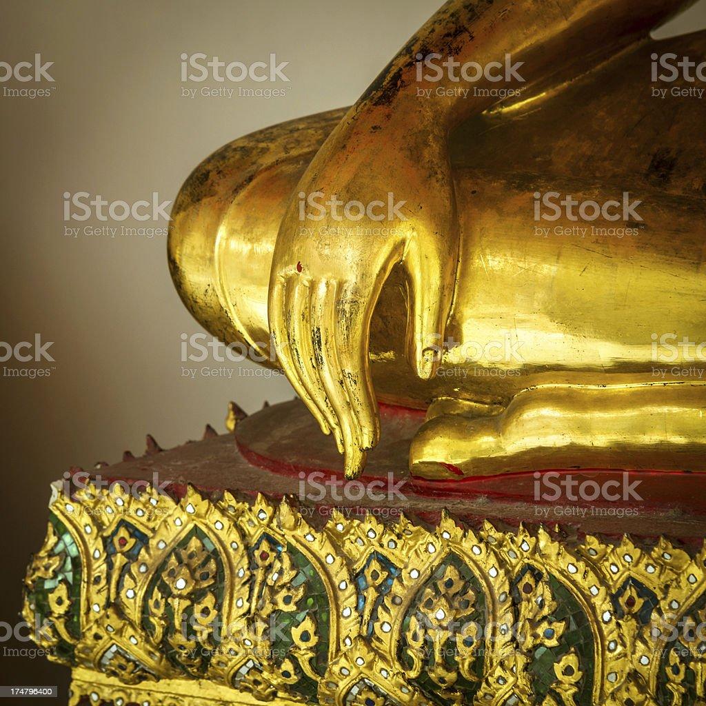 golden buddha hand detail royalty-free stock photo