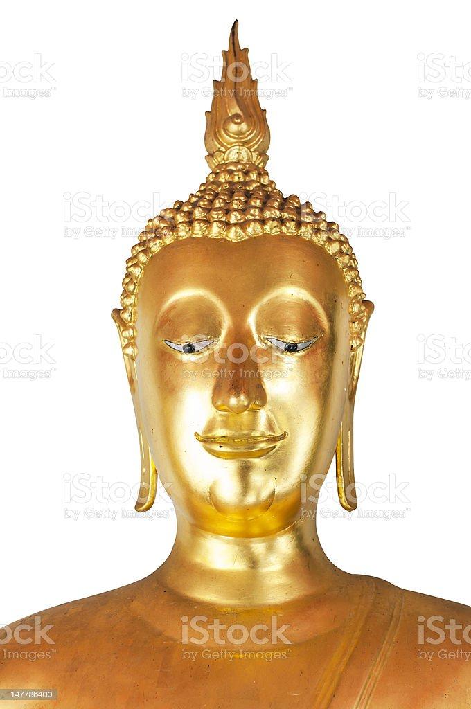 Golden buddha head royalty-free stock photo