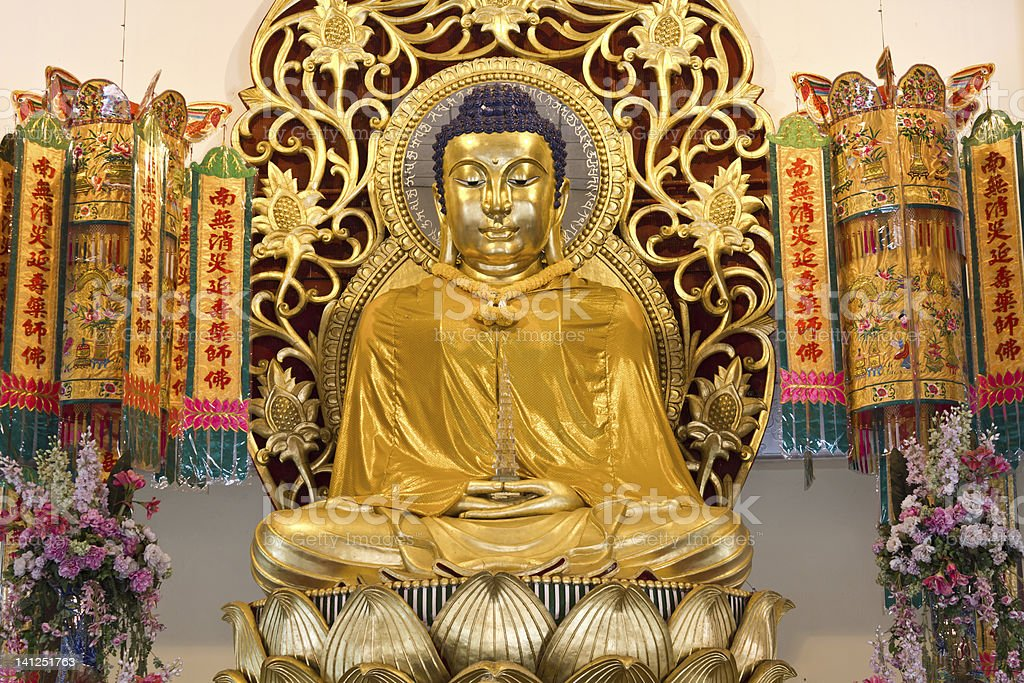 Golden buddha image stock photo