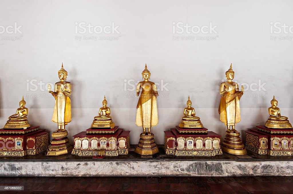 golden buddha in bangkok, Thailand stock photo