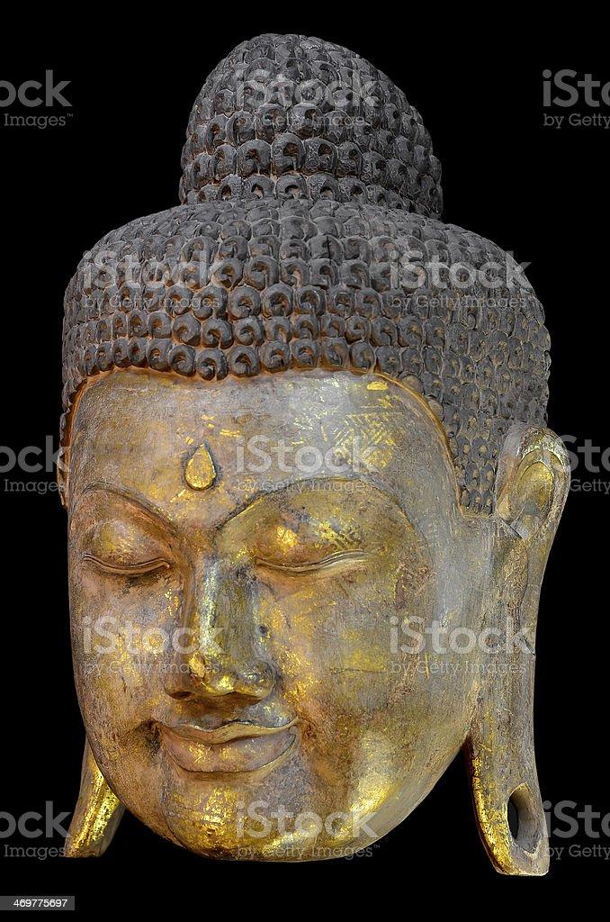 Golden Buddha Mask. stock photo