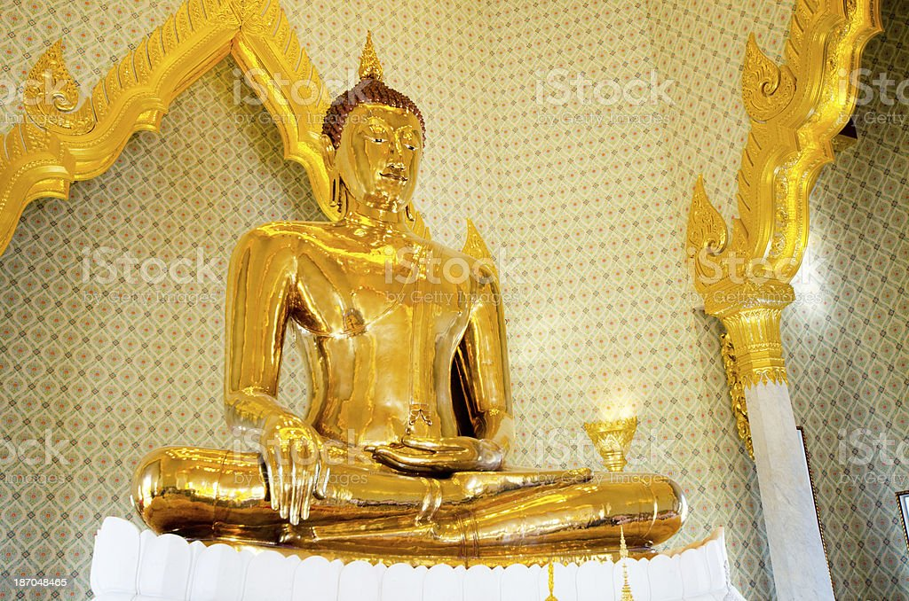 Golden Buddha, Solid Gold - Thailand royalty-free stock photo