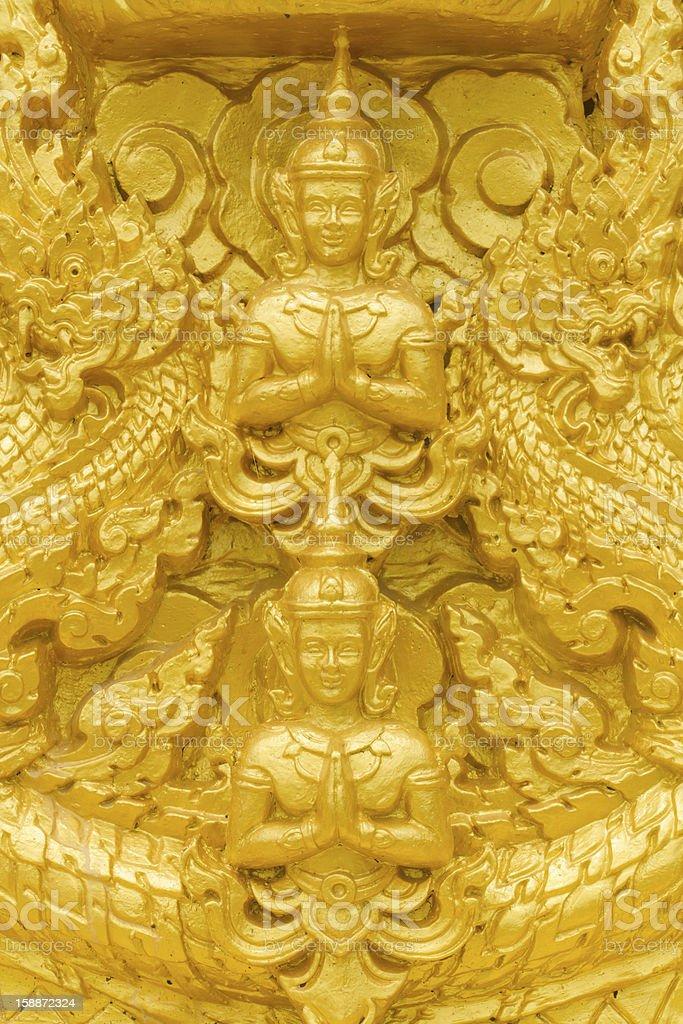 Golden buddha statue. royalty-free stock photo