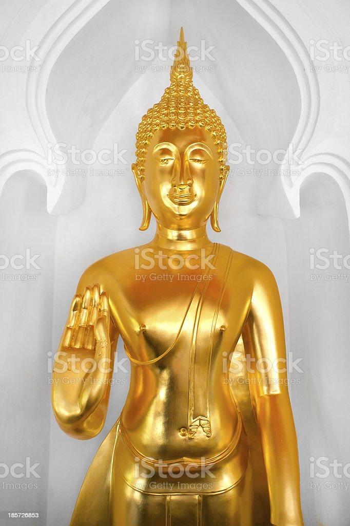 Golden Buddha statue royalty-free stock photo