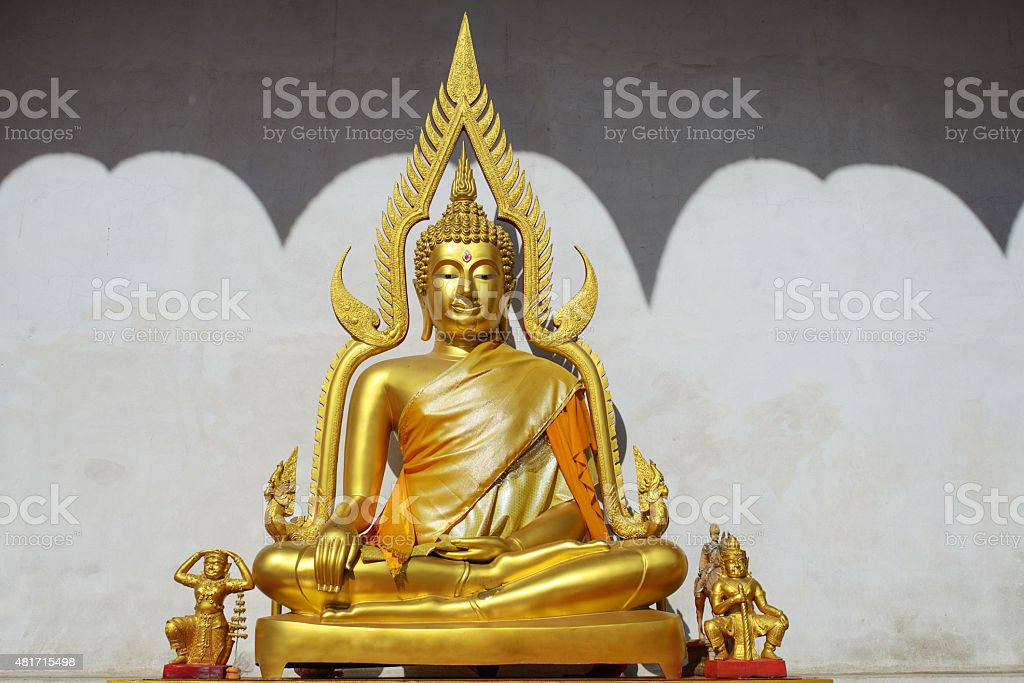 Golden Buddha statue , Thailand stock photo