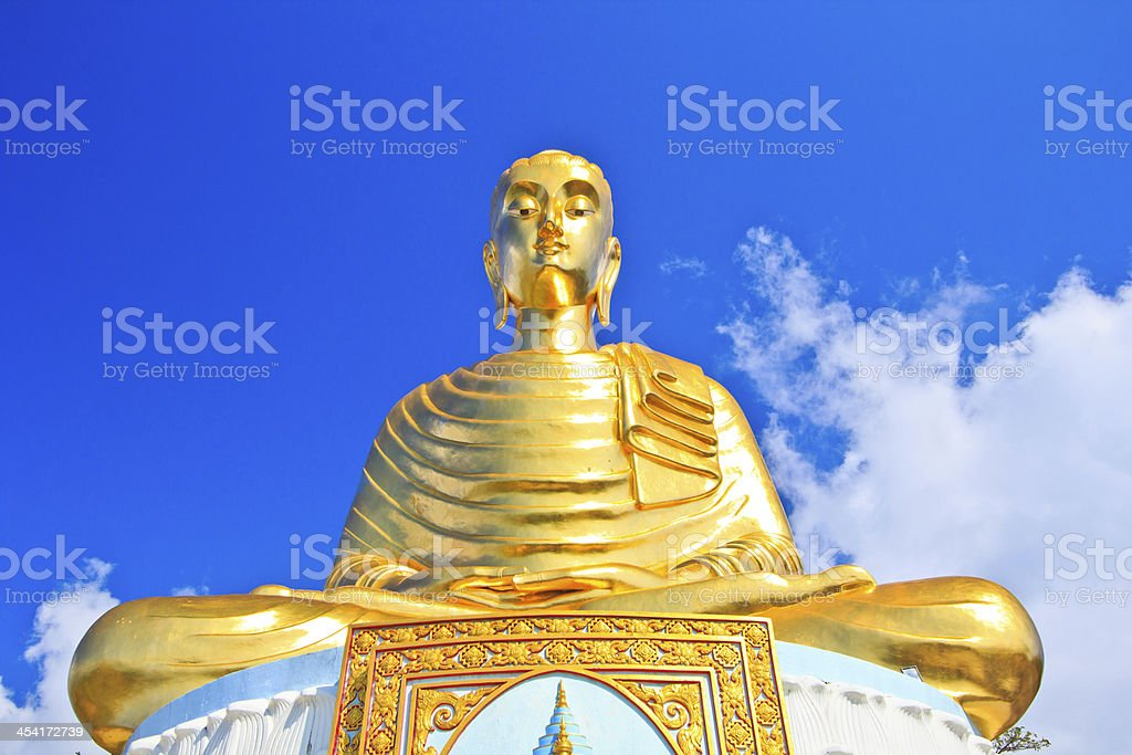 Golden Buddha Temple Thailand stock photo