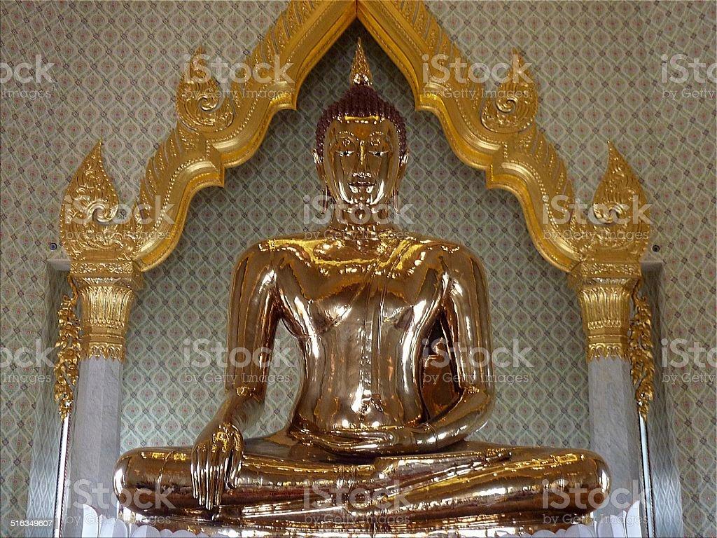 Golden Buddha, Wat traimit - Bangkok, Thailand stock photo