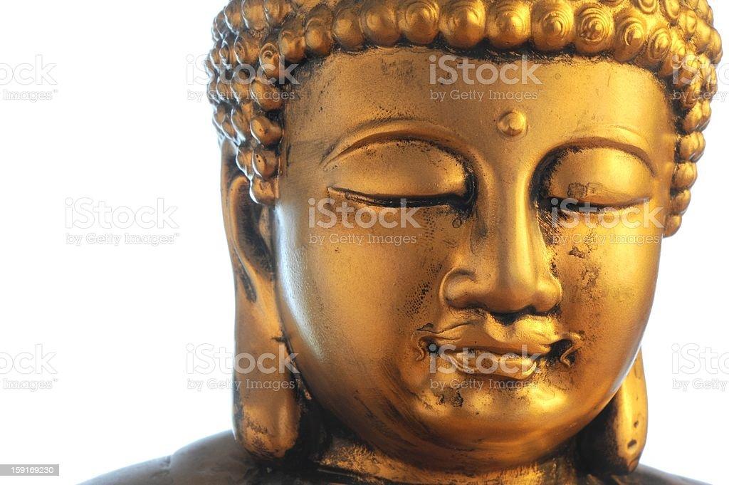 Golden buddha's head stock photo