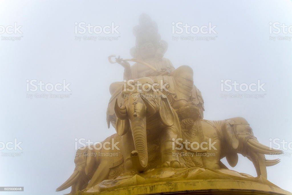 Golden Buddhist Monument stock photo