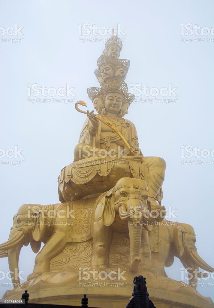 Golden Buddhist Monument stock photo