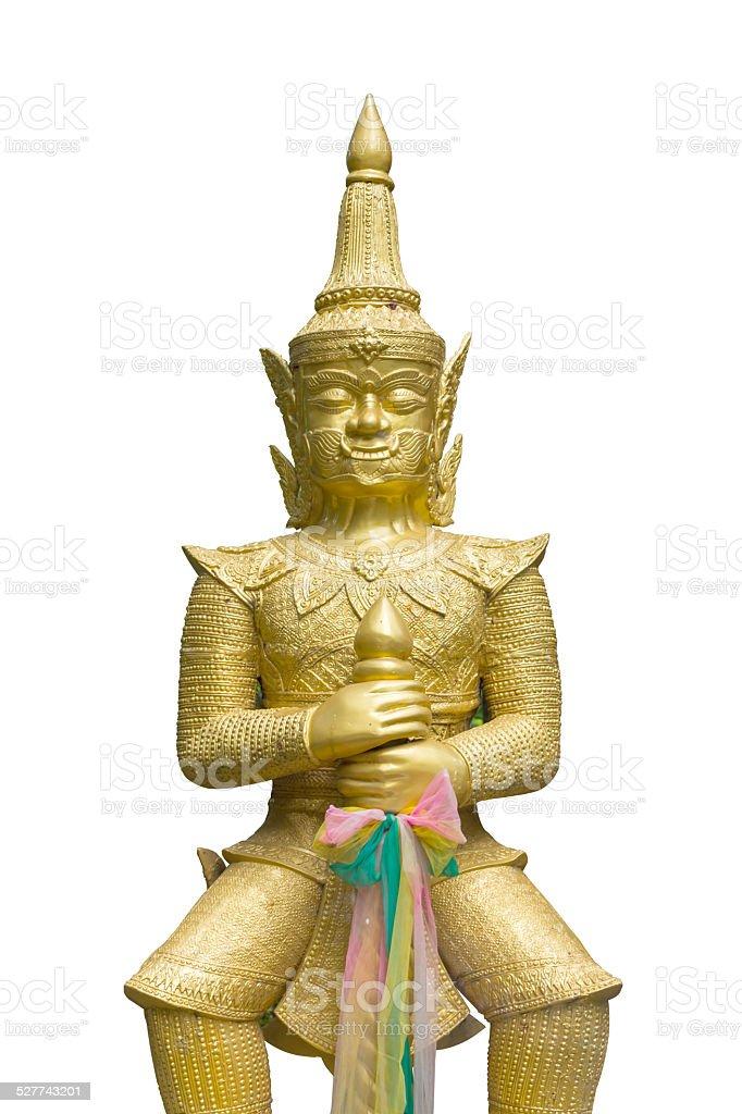 Golden buddhistische Titan Isoliert Lizenzfreies stock-foto