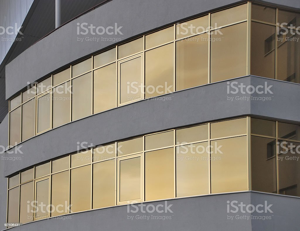 Golden building stock photo