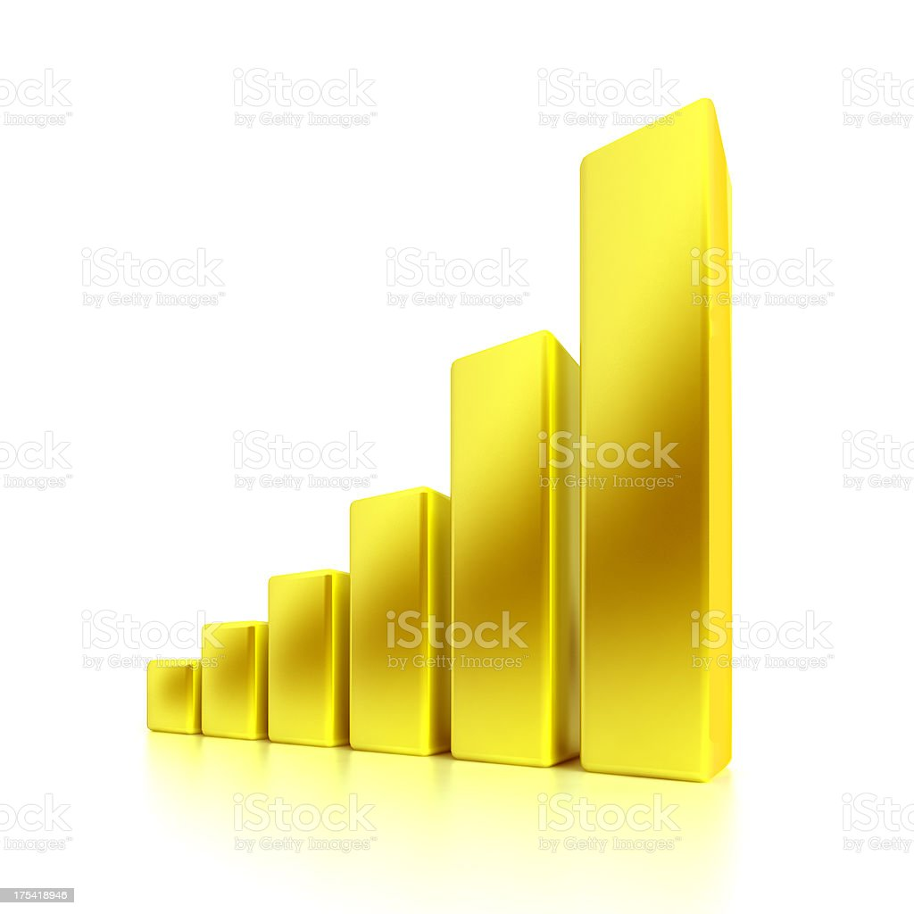 Golden Business Graph stock photo