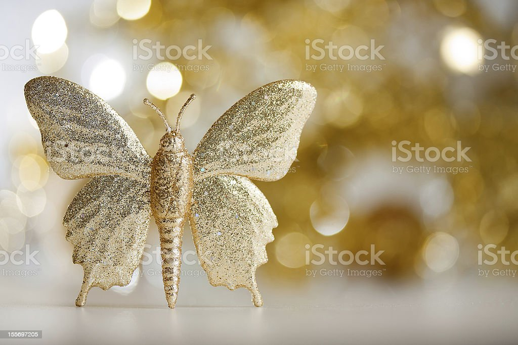 Golden butterfly royalty-free stock photo