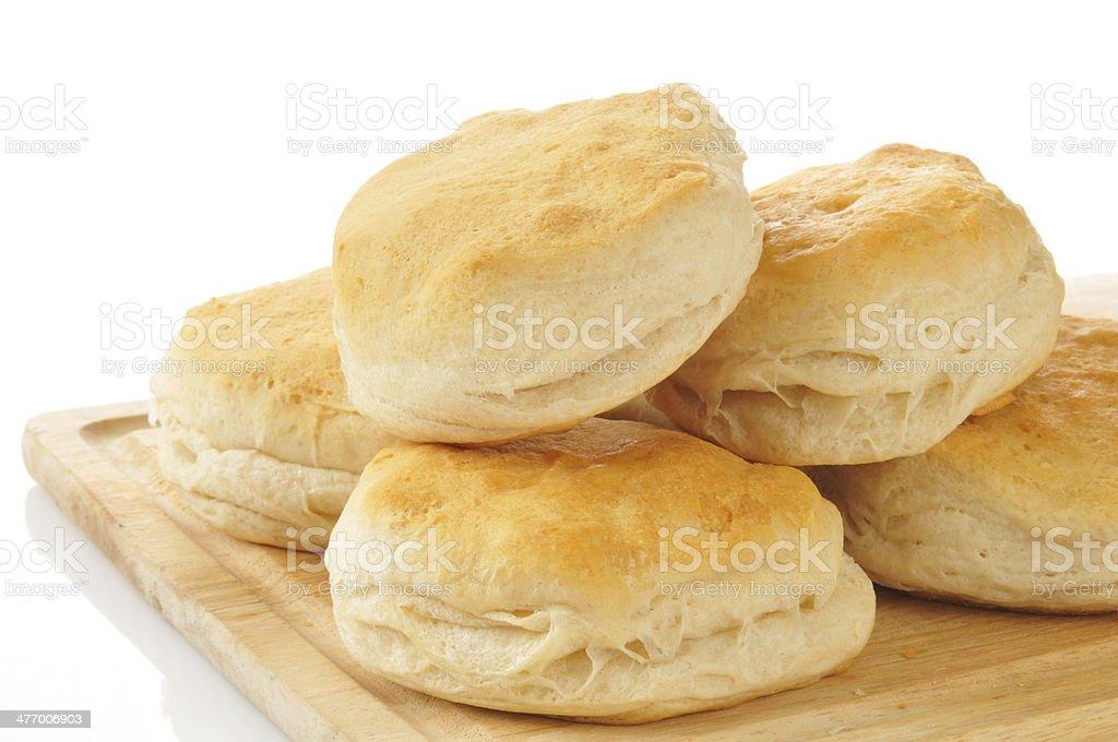 Golden buttermilk biscuits stock photo
