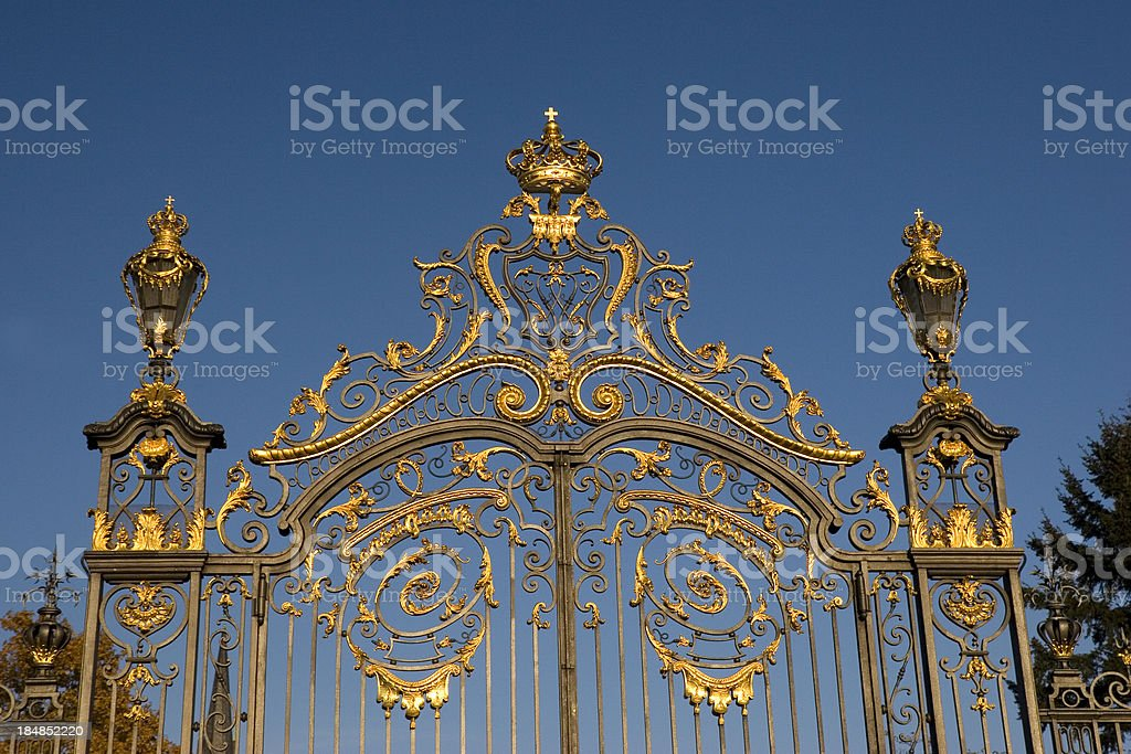 Golden Castle Gate royalty-free stock photo