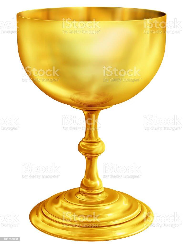 Golden chalice stock photo