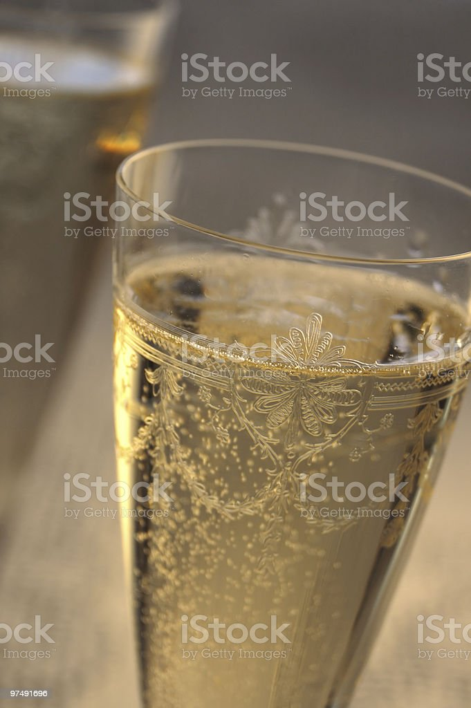 Golden champagne royalty-free stock photo
