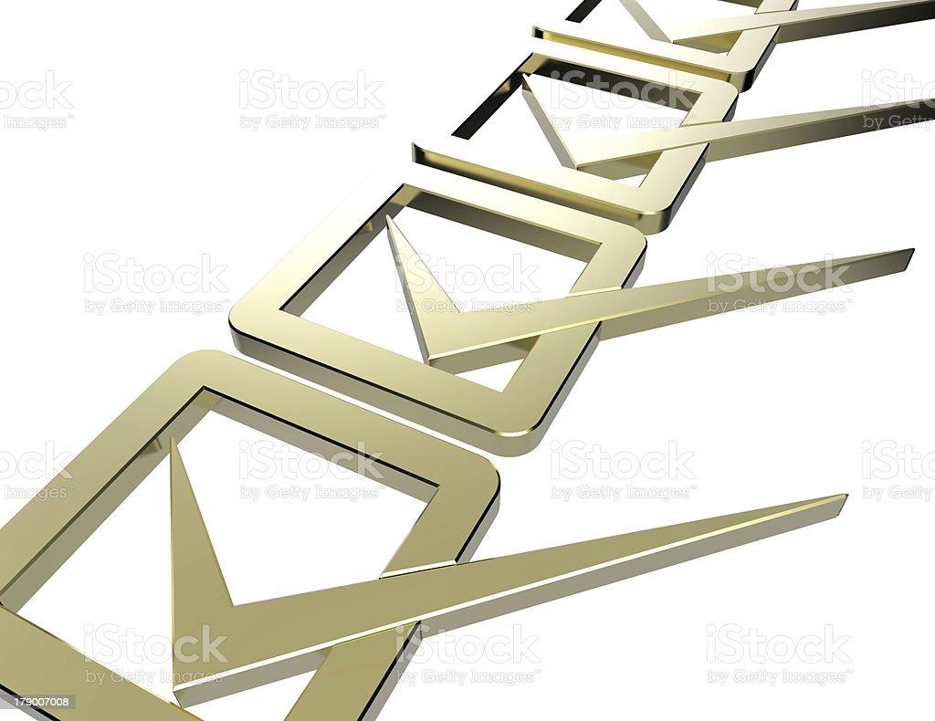 Golden Checklist royalty-free stock photo