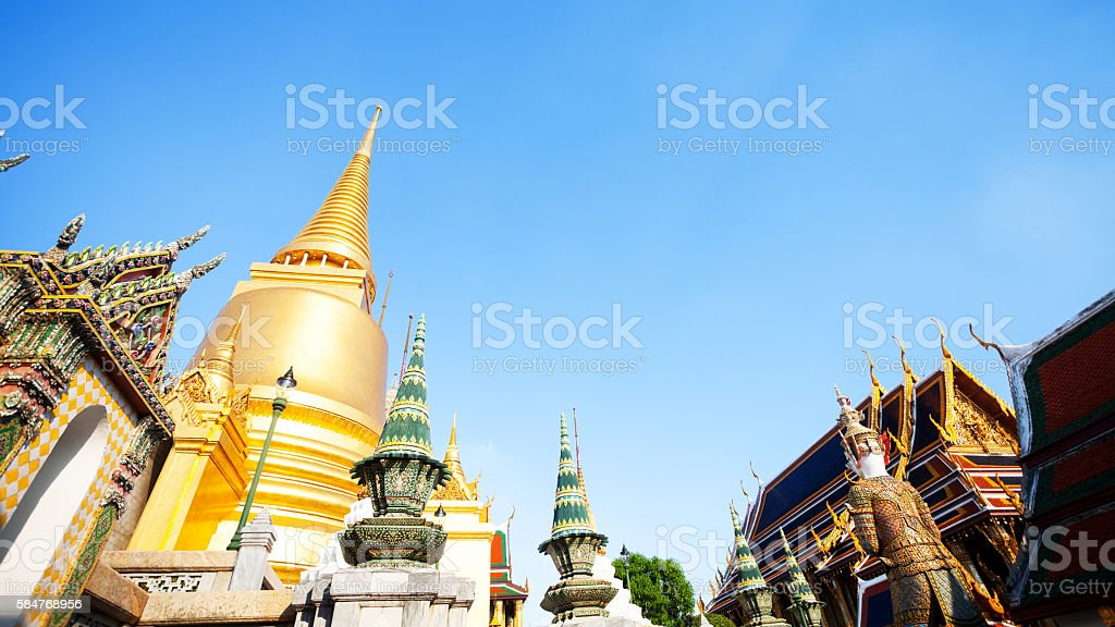 Golden Chedi Siratana stock photo