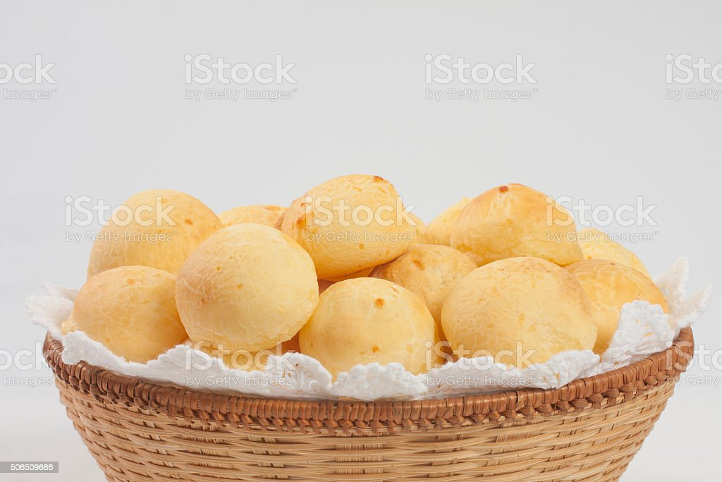 Golden cheese bread stock photo