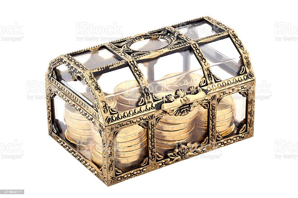 Golden chest stock photo