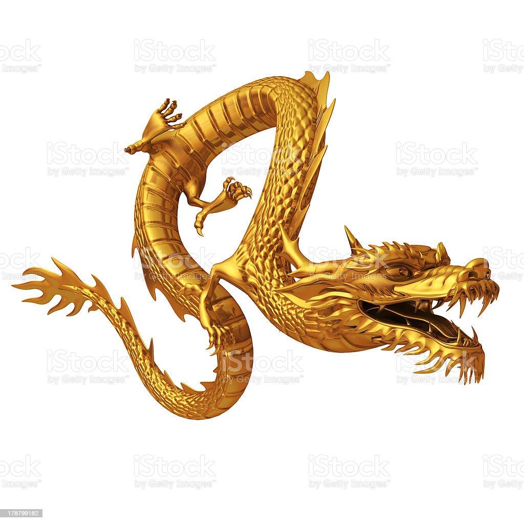 Golden Chinese dragon stock photo