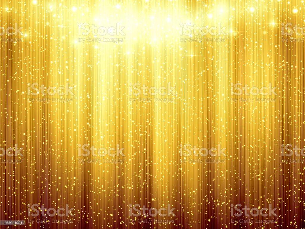 Golden Christmas background stock photo