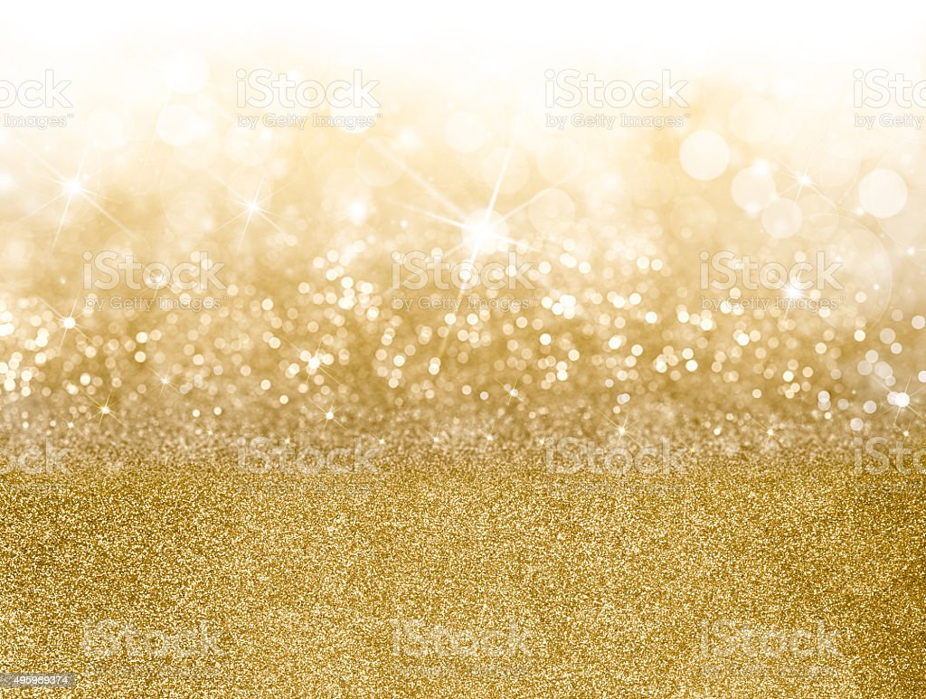 Golden Christmas background stock photo