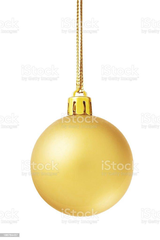 Golden christmas ball royalty-free stock photo