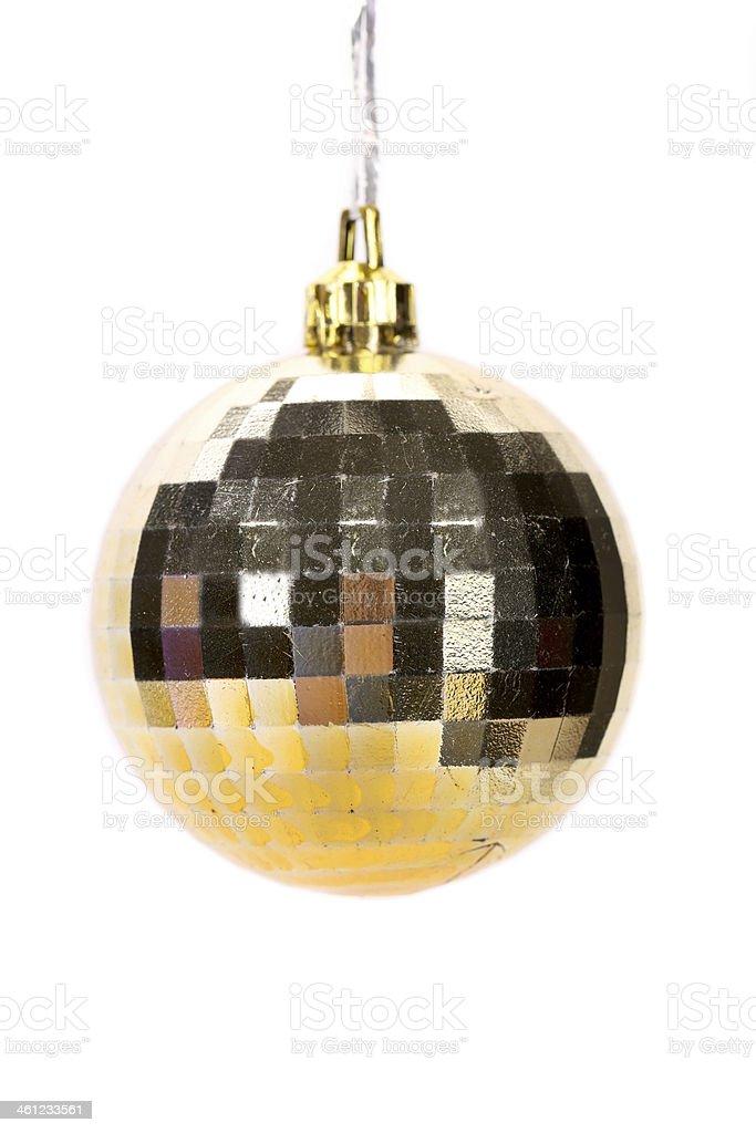 Golden christmas ball. stock photo