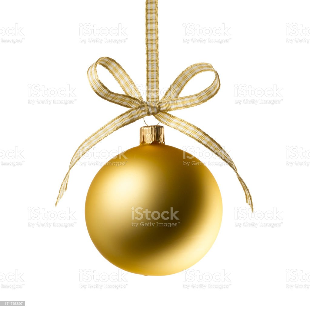 Golden Christmas bauble royalty-free stock photo