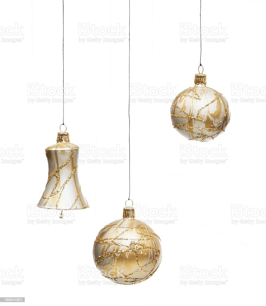 Golden Christmas Bauble stock photo