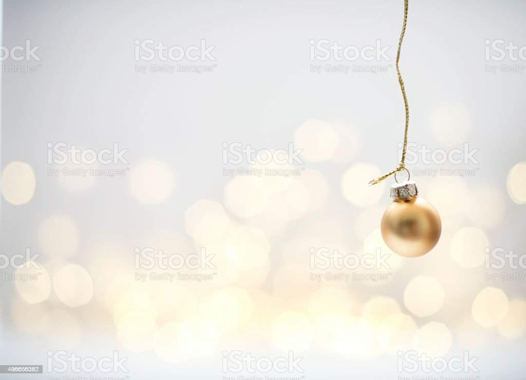 Golden Christmas Bauble stock photo